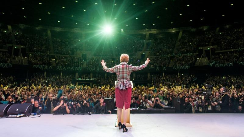 Nicola Sturgeon at the Glasgow Hydro