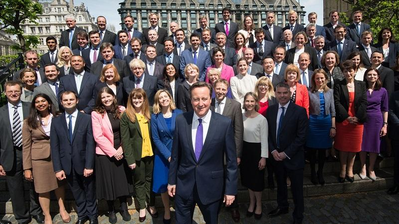 David Cameron with Tory MPs
