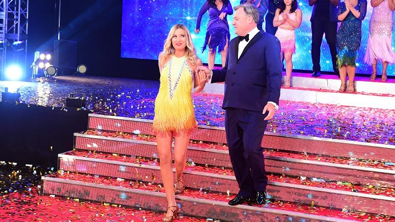 Laura Whitmore and Ed Balls