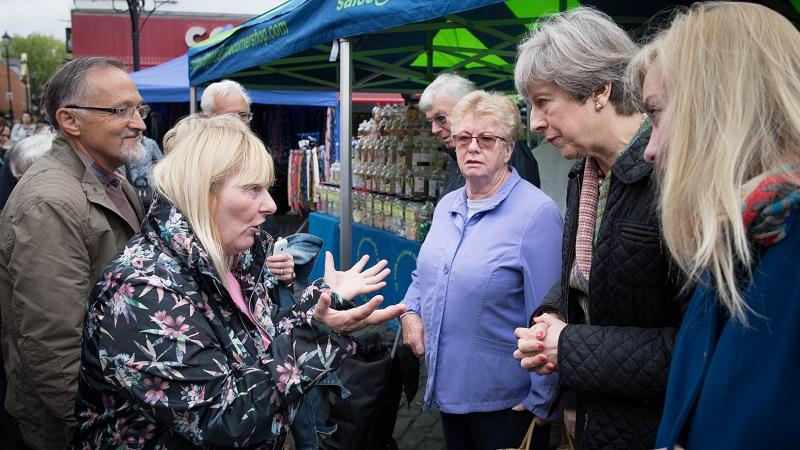 Theresa May in Abingdon