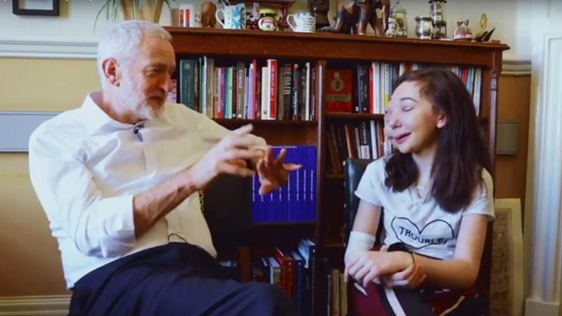 Jeremy Corbyn and Nikki Lilly