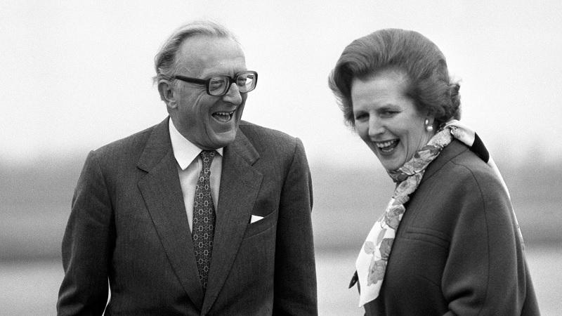 Lord Carrington and Margaret Thatcher in 1982