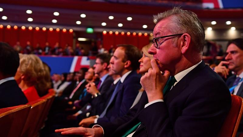 Michael Gove and cabinet ministers at 2018 Tory conference